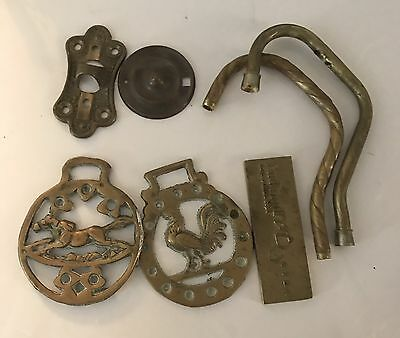 Lot 1 Lbs NICE Antique/Vintage Brass/Solid Brass Mixed Lot Fixtures, Scrap