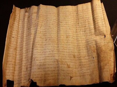 1368 - RARE 648 Years Old MEDIEVAL LATIN VELLUM