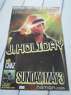 """J HOLIDAY Concert Poster CHAZ San Diego House of Blues 11""""x17"""""""
