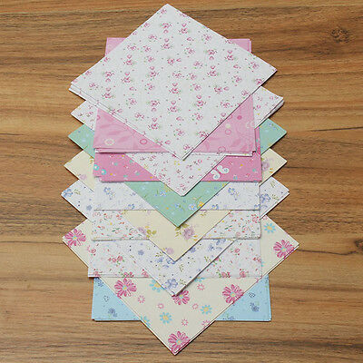 72Pcs Cute Floral Origami Paper Folded Paper Craft Scrapbooking Albums Cards