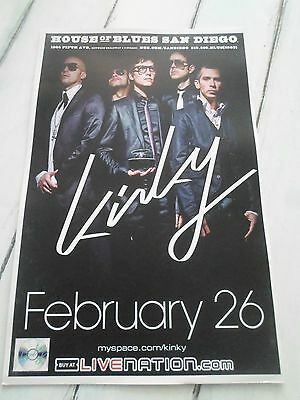 """KINKY Concert Poster San Diego House of Blues 11""""x17"""""""