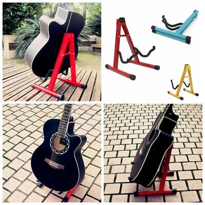 Folding Electric Acoustic Bass Guitar Stand A Frame Floor Rack Holder Hanger NEW