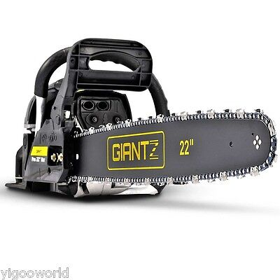 "Giantz 58CC Commercial Petrol Chainsaw 22"" Bar E-Start Tree Pruning Chain Saw AU"