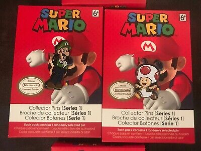 Nintendo Super Mario Collector Pins (Series 1) Princess Peach or Luigi. Pick One