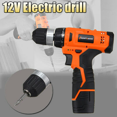 AU 12V Electric Wireless Drill Driver Sensational Electric Drill  With Bits Set