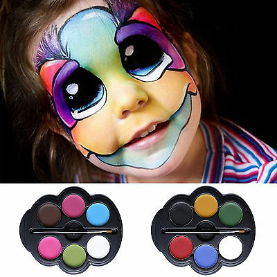 Professional Face Paint And Body painting Set Water Activated Kids Safe Kit Kid