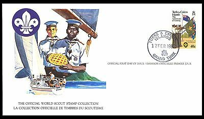 Turks & Caicos Islands 1982 Scout Card FDC
