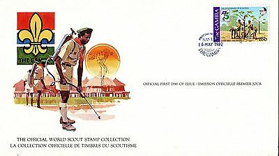 Gambia 1982 Scout Card FDC