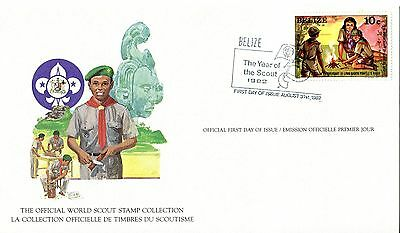 Belize 1982 Scout Card FDC