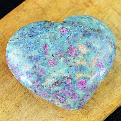 Heart Shaped 175.50 Cts Natural Untreated Carved Green Ruby Ziosite Gemstone