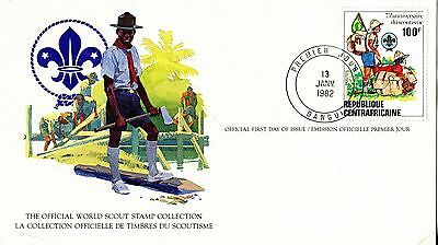 Central Africa 1982 Scout Card FDC