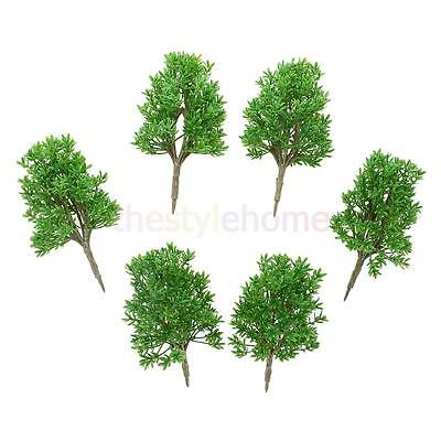 MagiDeal 6pcs DIY Painted Model Trees Train Landscape Scenery Accessory 1:60