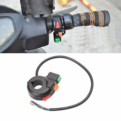 """3 in 1 Motorcycle ATV 7/8"""" Handlebar Switch Horn Turn Signal On Off Button"""