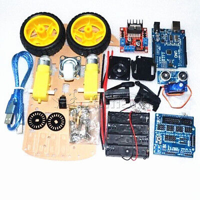 New 2WD Robot Motor Smart Car Auto Chassis Roboter Kit Speed Encoder