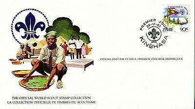 Zaire 1982 Scout Card FDC