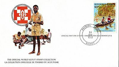 Niger 1982 Scout Card FDC