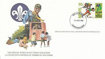 Nevis 1982 Scout Card FDC