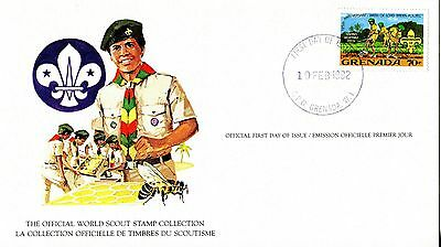 Grenada 1982 Scout Card FDC