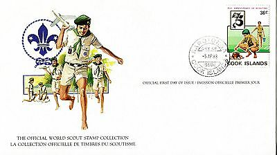 Cook Islands 1982 Scout Card FDC