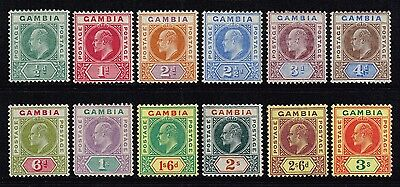 Gambia 1902-05 King Edward VII set to 3s. , MH (SG#45/56)
