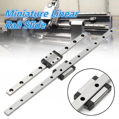 MR9MN CNC Router Miniature Linear Guide Support Rail W/ MGN9 Bearing Slide Block