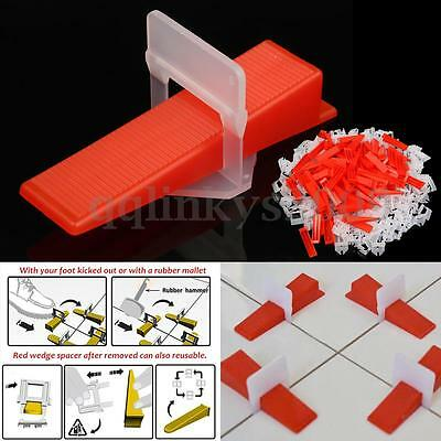 300Tile Leveling System Kit 200 Clips With100 Wedges Plastic Spacers Tiling Tool