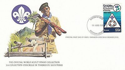 St Kitts 1982 Scout Card FDC