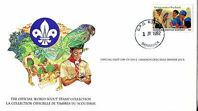 Dominica 1982 Scout Card FDC