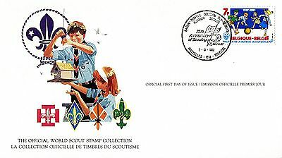 Belgium 1982 Scout Card FDC