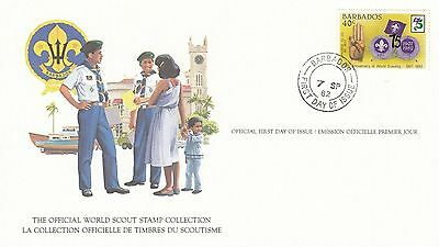 Barbados 1982 Scout Card FDC