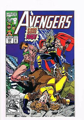 Avengers # 349 Death Wager ! Thor vs Hercules grade 8.5 scarce book !!