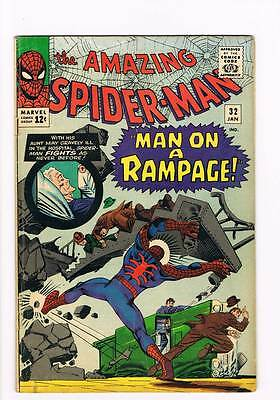 Amazing Spider-Man # 32  Man on a Rampage grade 5.0 scarce book !!