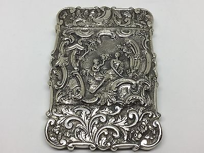 Very Rare Nathaniel Mills Silver Card Case - 1834