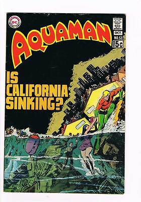 Aquaman # 53 Is California Sinking ?! grade 5.0 scarce book !!