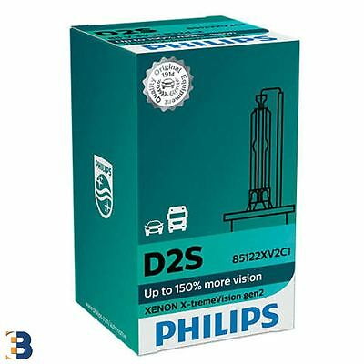 Philips D2S X-treme Visionr Bombillas Xenón 85122XV2C1 Single hasta 150% más Ve