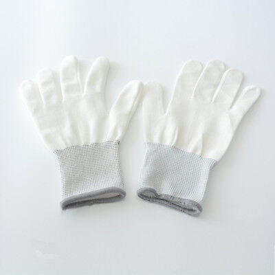 12x White Cotton Wrapping Gloves Application Tools For Car Wrap Vinyl Sticker