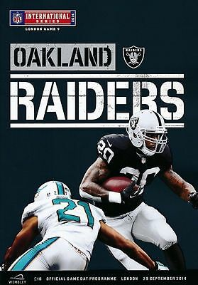 MIAMI DOLPHINS v OAKLAND RAIDERS NFL WEMBLEY STADIUM 2014