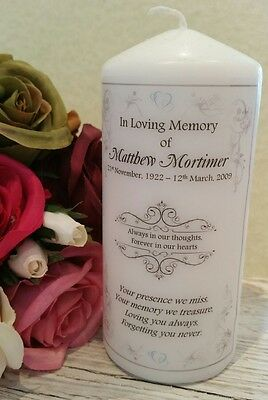 Memorial Candle, In Loving Memory Of A Loved One Keepsake Gift Candle 15cm Tall