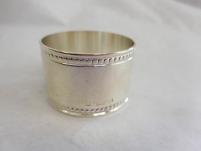 Christofle Silverplated Napkin Ring Beaded Edge No Monogram
