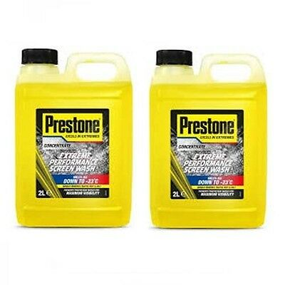 Prestone SW2 Concentrated Extreme Screen Wash 2 Cans 2L