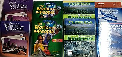 Grade 7 Student Teacher Editions 4-Subjects Homeschool 7th Curriculum