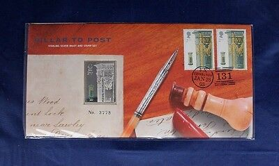 "2003 Silver 24.7g Stamp Ingot & Cover ""Pillar to Post - 1857 Postbox""  (Y3/121)"