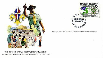 Dominican Republic 1982 Scout Card FDC