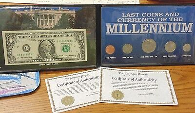 Last Coins And Currency Of The Millennium 1999 Uncirculated in Display w/COA