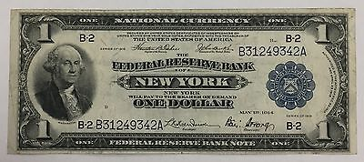 1918 $1 National Currency Note Large Eagle Blue Seal Nice Circulated PM-29