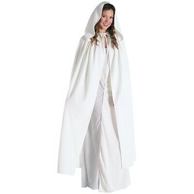 Arwen Cloak Lord of the Rings Adult Womens White Hooded Cape Costume Accessory