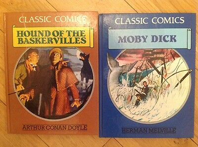 Vintage Classic Comics Bundle x2-Moby Dick & Hound of the Baskervilles