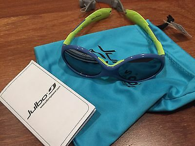 NEW JULBO Sunglasses Looping 2 Spectron 4 W/Headstrap 12-24mo Blue Green