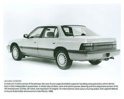 1986 Acura Legend ORIGINAL Factory Photo och5712