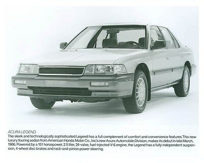 1986 Acura Legend ORIGINAL Factory Photo och5714